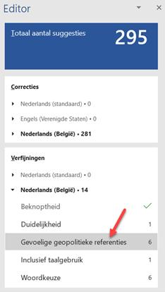 Screenshot resultaat Editor