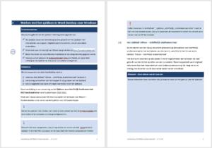Screenshot uit handleiding sjabloon schriftelijk studiemateriaal